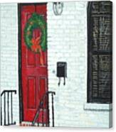 West Street Christmas Canvas Print