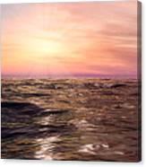 West Sunset Romantic Canvas Print