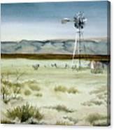 West Texas Windmill Canvas Print