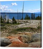 West Thumb Geyer At Yellowstone Lake Canvas Print