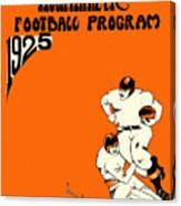 West Virginia 1925 Football Program Canvas Print