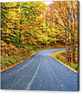 West Virginia Curves - In A Yellow Wood - Paint Canvas Print