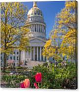 West Virginia State Capitol Colors Of Spring Canvas Print
