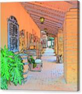 Western Alley Drawing 1 Canvas Print