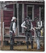 Western Cowboy Re-enactors At 1880 Town Canvas Print