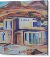 Western Home Rendering Canvas Print