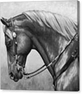 Western Horse Black And White Canvas Print