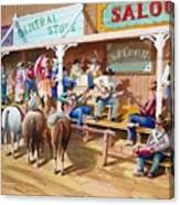 Western Jam Session Canvas Print
