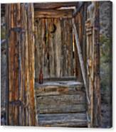 Western Outhouse Canvas Print