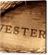 Western Stamp Branding Canvas Print