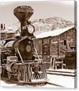 Western Train Canvas Print