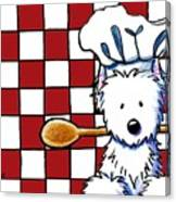 Westie Chef Canvas Print