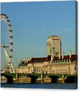 Westminster Bridge And London Eye Canvas Print