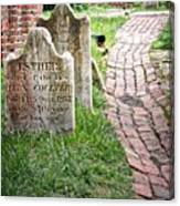 Westminster Burying Ground Canvas Print