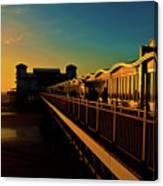 Weston Pier At Sunset Canvas Print
