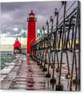 Wet At Grand Haven Canvas Print