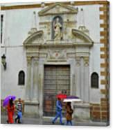 Wet People Door Cadiz Canvas Print