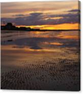 Wet Sand And Clouds 2 Canvas Print