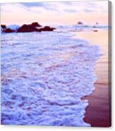 Wet Sand And Foam 2 Ae Canvas Print