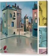 Wet Town Canvas Print