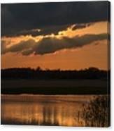 Wetland Sunset Canvas Print