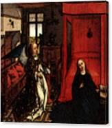 Weyden Annunciation Triptych Canvas Print