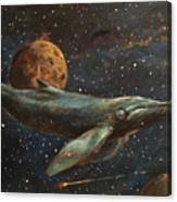 Whale Of The Universe Canvas Print