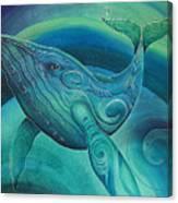 Whale Tohora By Reina Cottier Canvas Print