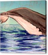 Whale Tail    Pastel   Sold Canvas Print