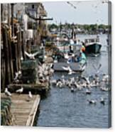 Wharf Action Canvas Print