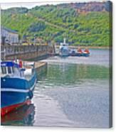 Wharf Near Angelmo Fish Market In Puerto Montt-chile  Canvas Print