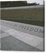 What Does Freedom Cost? Canvas Print