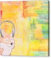 What Does The Fox Hear? Canvas Print