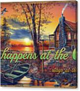What Happens At The Cabin Canvas Print