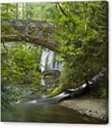 Whatcom Falls Bridge Canvas Print