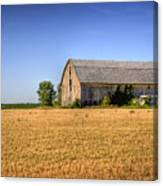 Wheat Field Barn Canvas Print