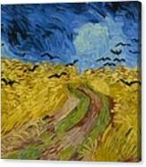 Wheat Field With Crows At Wheat Fields Van Gogh Series, By Vincent Van Gogh Canvas Print