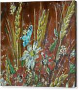 Wheat 'n' Wildflowers I Canvas Print