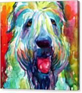 Wheaten Terrier Dog Portrait Canvas Print