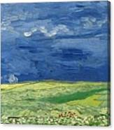 Wheatfield Under Thunderclouds At Wheat Fields Van Gogh Series, By Vincent Van Gogh Canvas Print