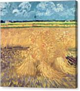 Wheatfield With Sheaves Canvas Print