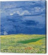 Wheatfields Under Thunderclouds Canvas Print
