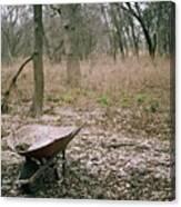 Wheel Barrel In San Antonio Canvas Print