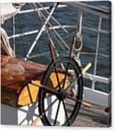 Sailingship Wheel Canvas Print