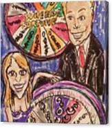 Wheel Of Fortune Pat Sajak And Vanna White Canvas Print