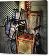 Wheelchairs Of Yesteryear By Kaye Menner Canvas Print