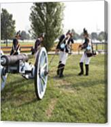Wheeling The Cannon At Fort Mchenry In Baltimore Maryland Canvas Print