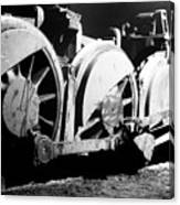 Wheels Of Steam Engine Canvas Print