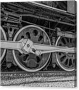 Wheels On A Locomotive Canvas Print