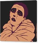 Weeping Pierrot Canvas Print